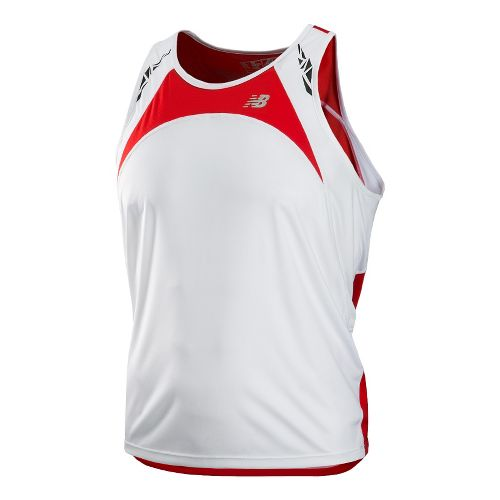 Mens New Balance Impact Singlets Technical Tops - Velocity Red L