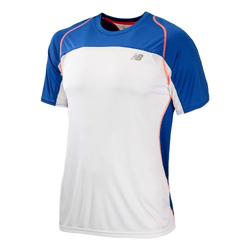 Mens New Balance Momentum Short Sleeve Technical Tops - Cobalt XXL