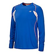 Mens New Balance Momentum Long Sleeve No Zip Technical Tops