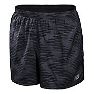 "Mens New Balance 5"" Go 2 Graphic Lined Shorts"