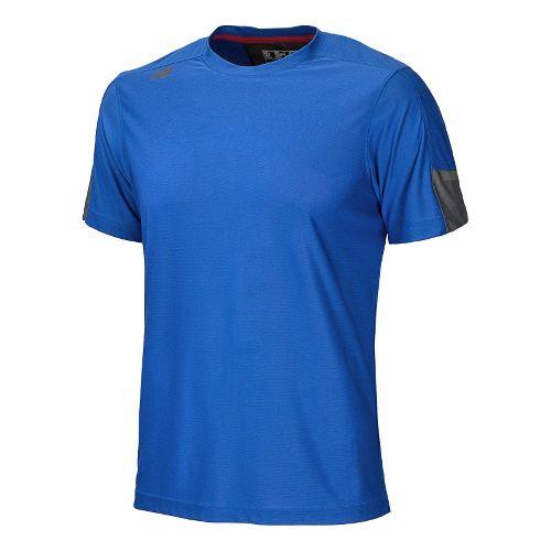 Womens New Balance Cross Run Short Sleeve Technical Tops - Cobalt XL