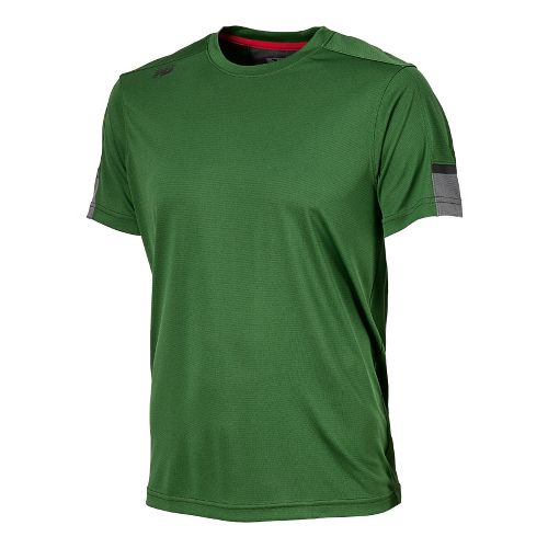 Womens New Balance Cross Run Short Sleeve Technical Tops - Combat L