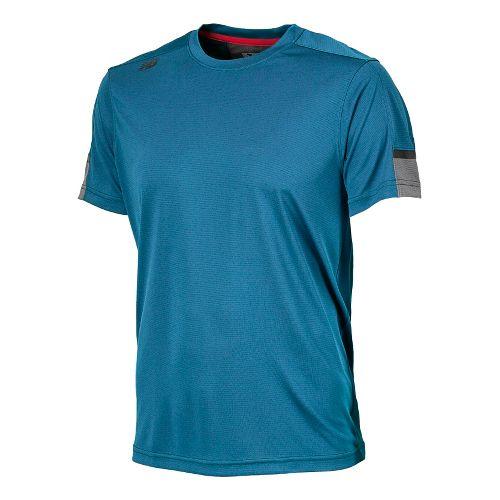 Womens New Balance Cross Run Short Sleeve Technical Tops - Laser Blue L