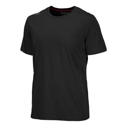 Mens New Balance Cross Run Performance Short Sleeve Technical Top - Black XS