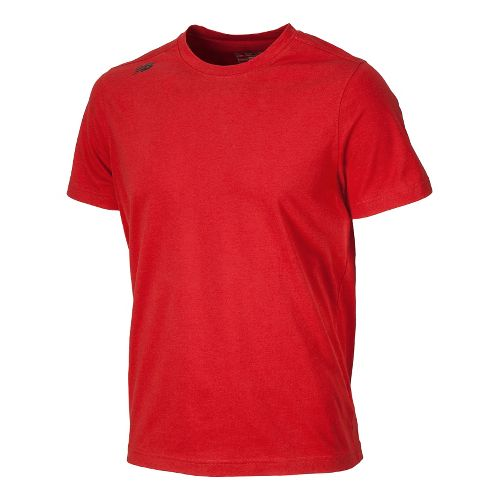Mens New Balance Cross Run Tee Short Sleeve Technical Tops - Chinese Red M