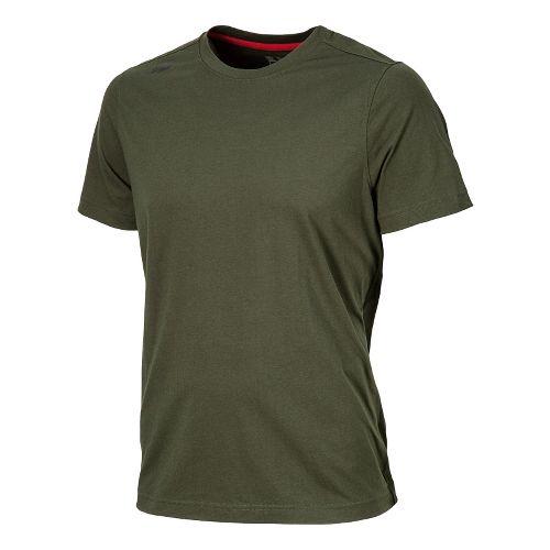 Mens New Balance Cross Run Performance Short Sleeve Technical Top - Combat S