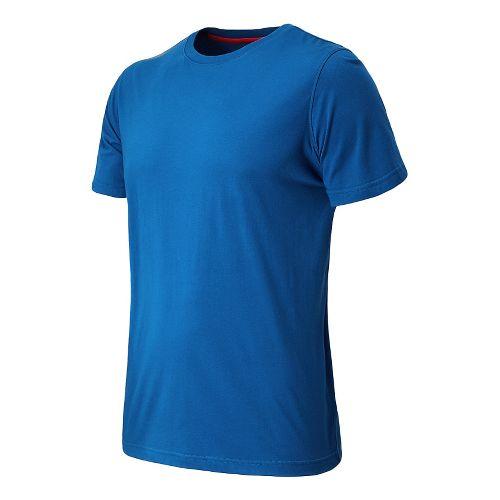 Mens New Balance Cross Run Performance Short Sleeve Technical Top - Laser Blue L
