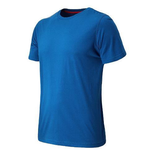 Mens New Balance Cross Run Performance Short Sleeve Technical Top - Laser Blue S