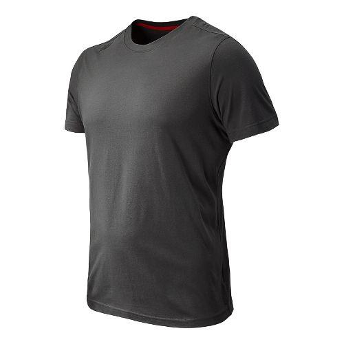 Mens New Balance Cross Run Performance Short Sleeve Technical Top - Magnet XL
