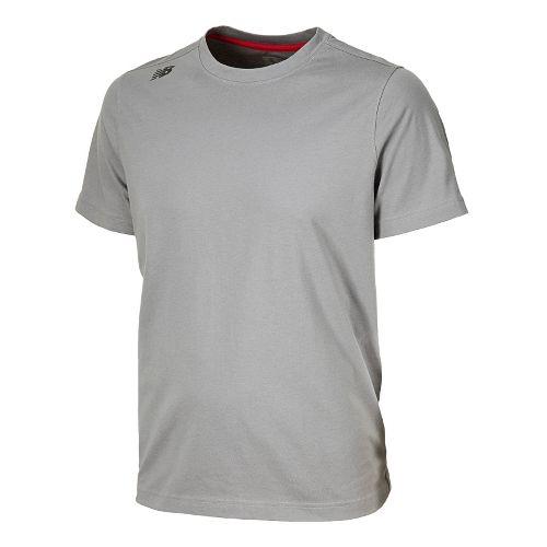 Mens New Balance Cross Run Tee Short Sleeve Technical Tops - Silver Filigree XXL