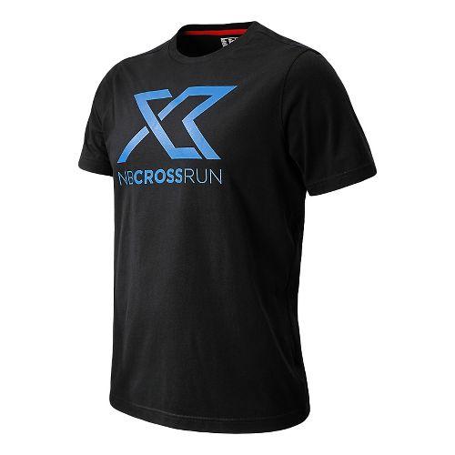 Mens New Balance Cross Run Graphic Tee Short Sleeve Technical Top - Black XL