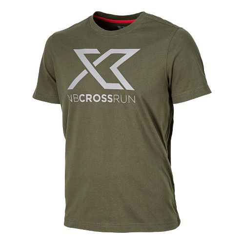 Mens New Balance Cross Run Graphic Tee Short Sleeve Technical Tops - Combat XL