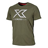 Mens New Balance Cross Run Graphic Tee Short Sleeve Technical Top