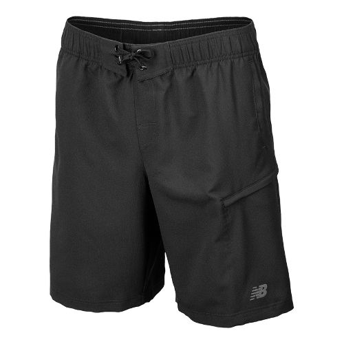 Mens New Balance Cross Run Board Unlined Shorts - Black L