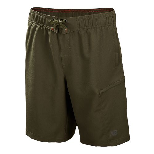 Mens New Balance Cross Run Board Unlined Shorts - Combat M