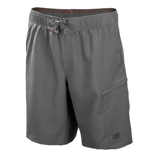 Mens New Balance Cross Run Board Unlined Shorts - Silver Filigree XS