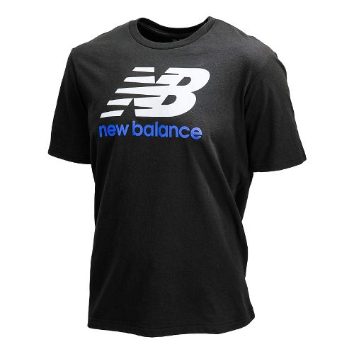 Womens New Balance Essentials Short Sleeve Technical Tops - Black XS