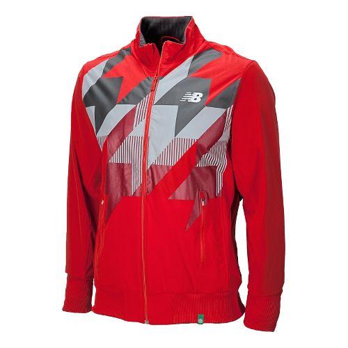 Mens New Balance Geospeed Running Jackets - Velocity Red M