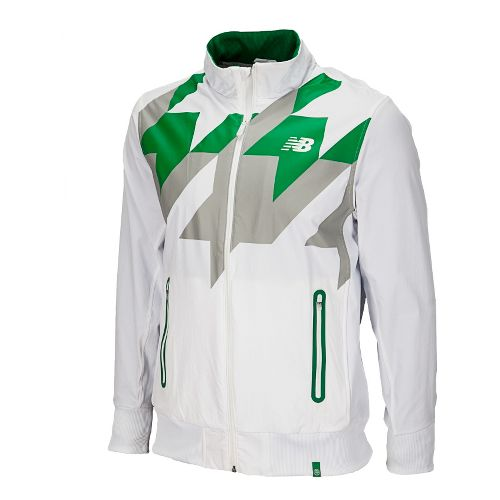 Mens New Balance Geospeed Running Jackets - White XL