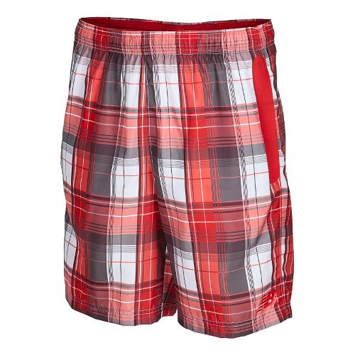 Mens New Balance Court Unlined Shorts - Velocity Red M