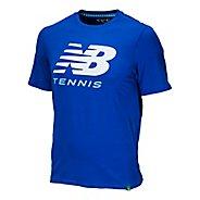 Mens New Balance Big Brand Tennis Tee Short Sleeve Technical Tops