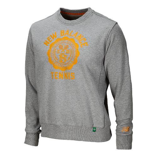 Mens New Balance Bookstore Crew Long Sleeve No Zip Technical Tops - Golden Blaze M ...