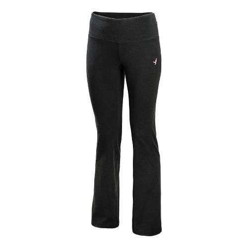 Womens New Balance Komen Shirred Bootcut Full Length Pants - Black XS
