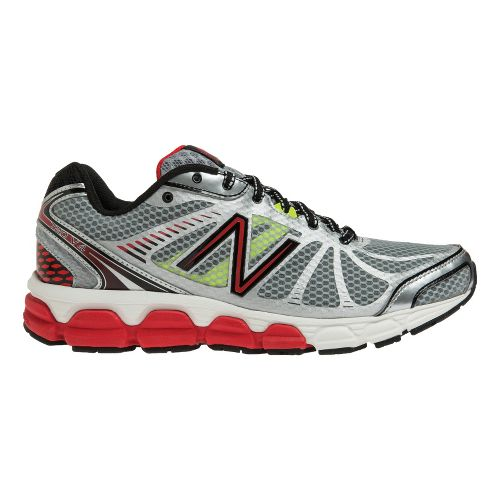 Mens New Balance 780v4 Running Shoe - Silver/Red 7.5