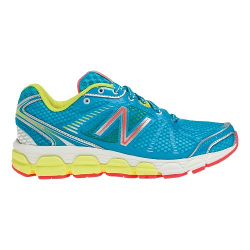 Womens New Balance 780v4 Running Shoe - Blue/Lime 7.5