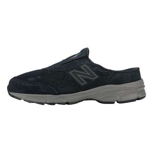 Mens New Balance 990v3 Slip-On Casual Shoe - Black/Dark Grey 12