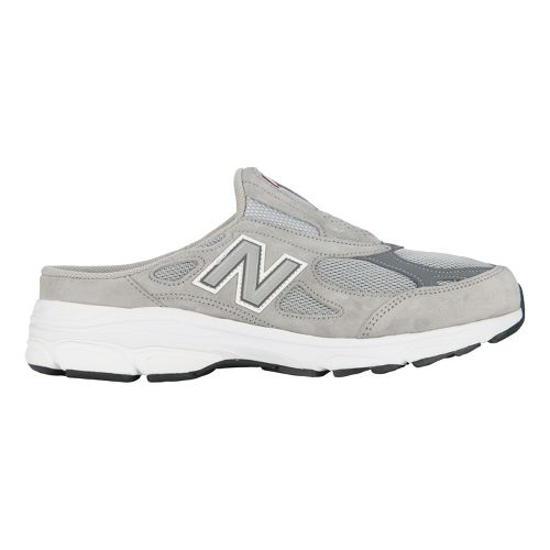 Mens New Balance 990v3 Slip-On Casual Shoe - Black/Dark Grey 11.5