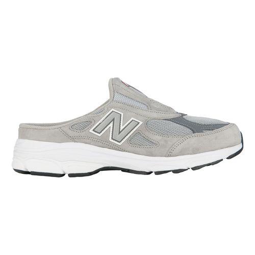 Mens New Balance 990v3 Slip-On Casual Shoe - Black/Dark Grey 12