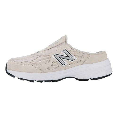 Womens New Balance 990v3 Slip-On Casual Shoe - Beige/White 6.5