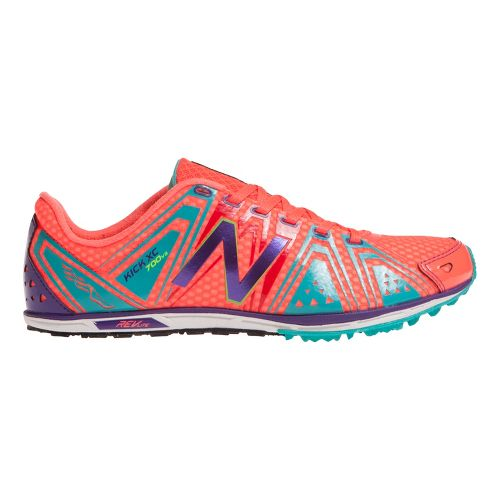 Womens New Balance XC700v3 Spike Cross Country Shoe - Coral/Teal 7.5
