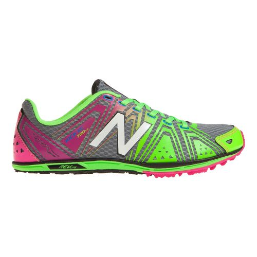 Womens New Balance XC700v3 Spike Cross Country Shoe - Pink/Green 7.5