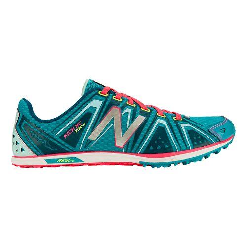 Womens New Balance XC700v3 Spikeless Cross Country Shoe - Blue/Pink 6.5