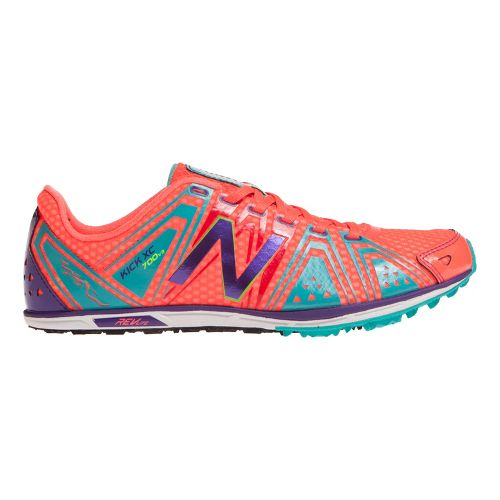 Womens New Balance XC700v3 Spikeless Cross Country Shoe - Coral/Teal 6.5
