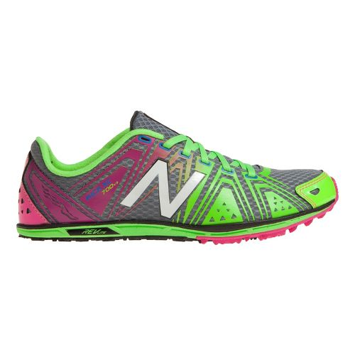 Womens New Balance XC700v3 Spikeless Cross Country Shoe - Pink/Green 5.5