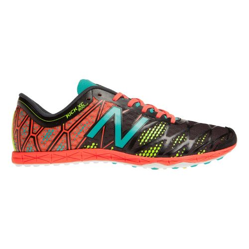 Mens New Balance XC900v2 Spikeless Cross Country Shoe - Black/Coral 7.5