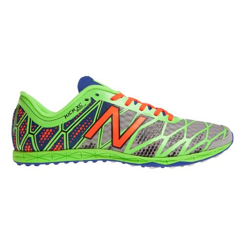 Mens New Balance XC900v2 Spikeless Cross Country Shoe - Silver/Green 9.5