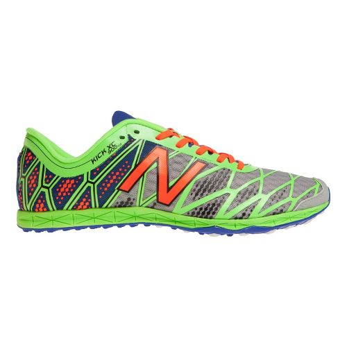 Mens New Balance XC900v2 Spike Cross Country Shoe - Silver/Green 12.5