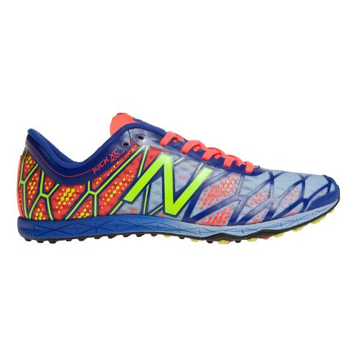 Womens New Balance XC900v2 Cross Country/Spikeless Cross Country Shoe - Silver/Blue 7.5