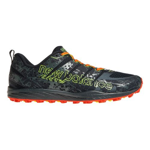 Mens New Balance T110v2 Trail Running Shoe - Grey/Orange 7.5