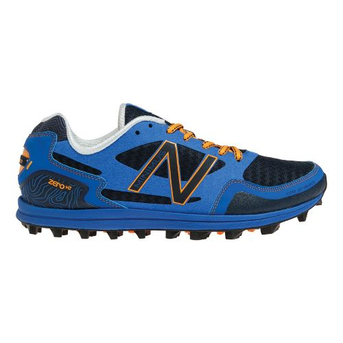 Mens New Balance Trail Zero v2 Trail Running Shoe - Blue/Orange 7.5