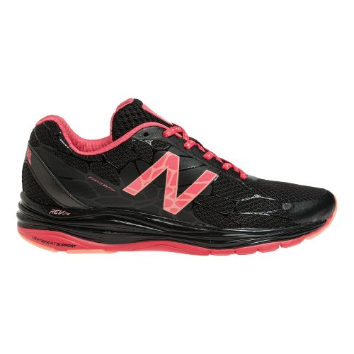 Womens New Balance 1745 Walking Shoe - Black/Coral 8.5