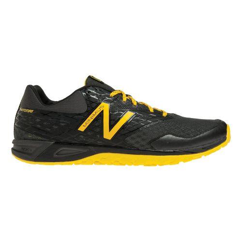 Mens New Balance MX00 Cross Training Shoe - Black/Yellow 12.5