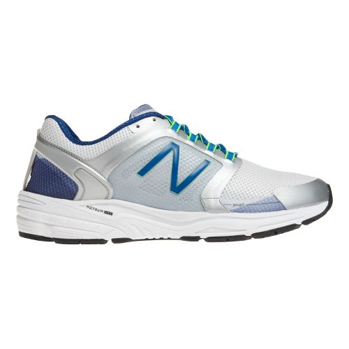 Mens New Balance 3040v1 Running Shoe - Silver/Classic Blue 9