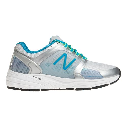 Womens New Balance 3040v1 Running Shoe - Silver/Blue Infinity 7