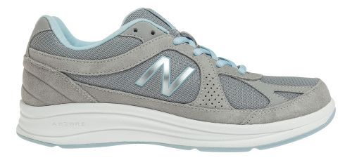 Womens New Balance 877 Walking Shoe - Silver 5