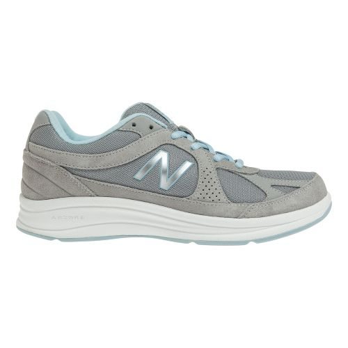 Womens New Balance 877 Walking Shoe - Silver 7